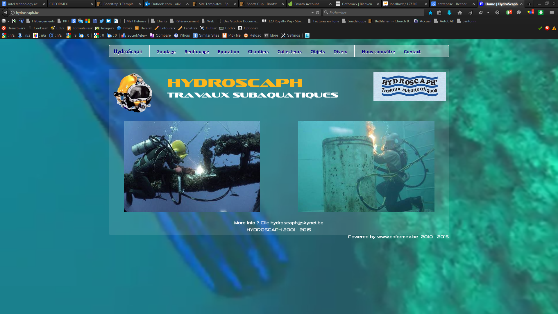 Photo du site www.hydroscaph.be